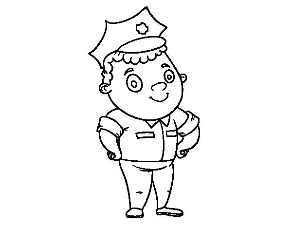 Dibujo de Oficial de policía para Colorear - Dibujos.net