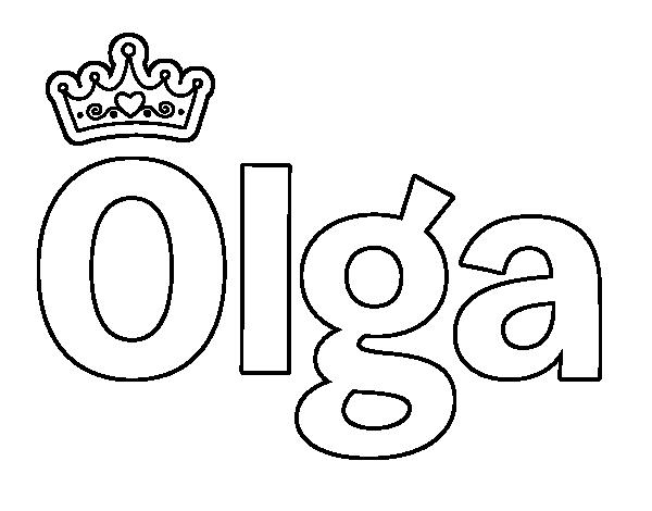 Dibujo de Olga para Colorear - Dibujos.net