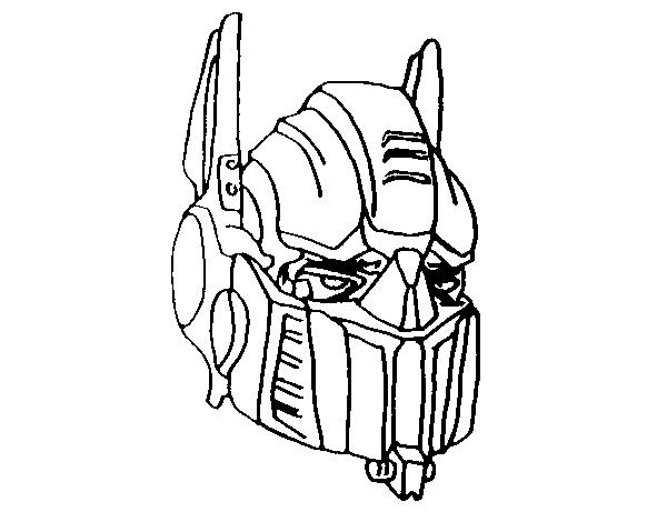 Dibujo De Optimus Prime Para Colorear Dibujosnet
