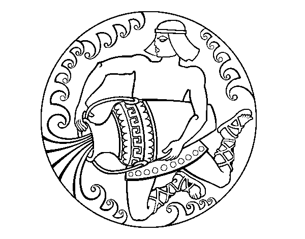 Dibujo de Oráculo griego para Colorear - Dibujos.net