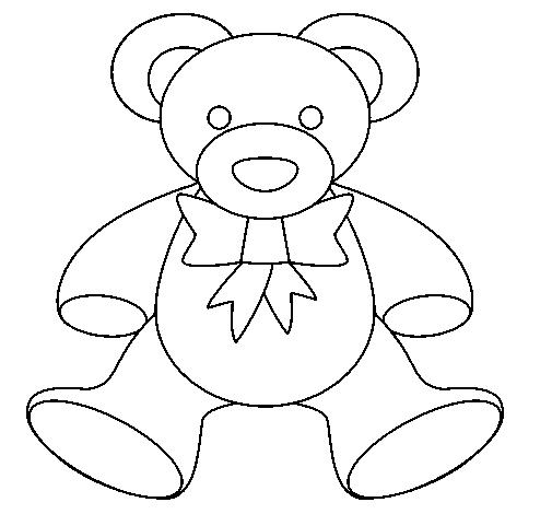 Dibujo de Osito de peluche para Colorear - Dibujos.net