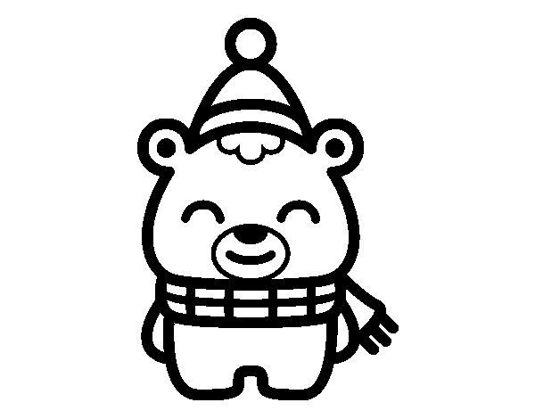 Dibujo de Osito navideño para Colorear - Dibujos.net