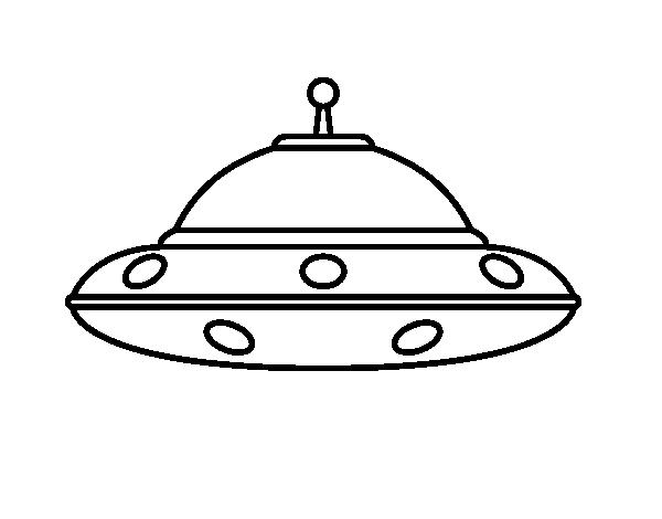 Dibujo de OVNI extraterrestre para Colorear - Dibujos.net