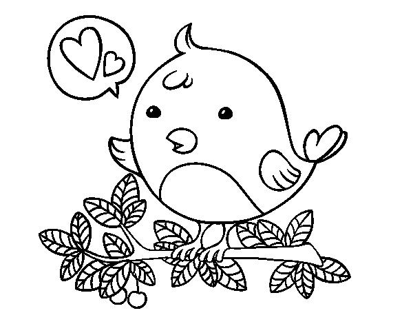 Dibujo de Pájaro de Twitter para Colorear - Dibujos.net