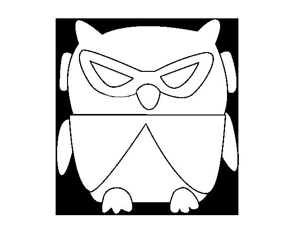 Dibujo de Pájaro DJ para Colorear - Dibujos.net