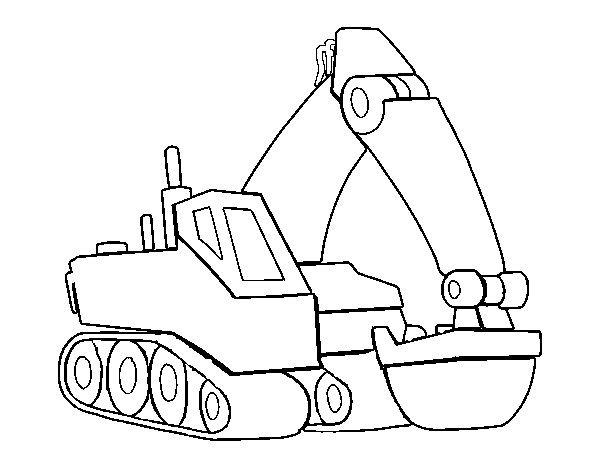 Dibujo de Pala excavadora para Colorear - Dibujos.net