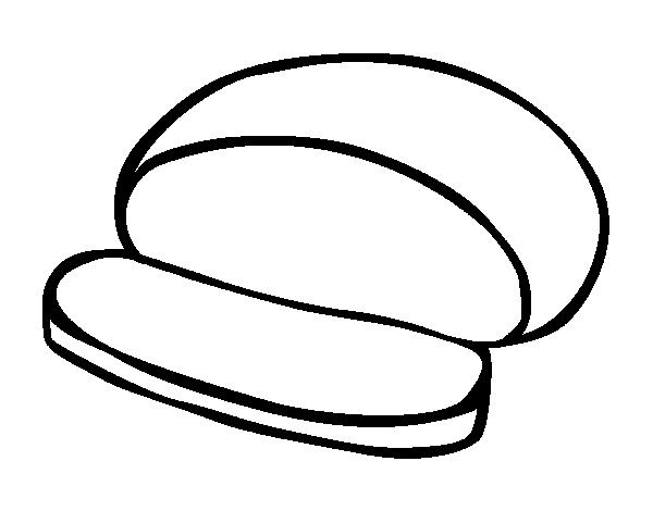 Dibujo de Pan redondo para Colorear - Dibujos.net