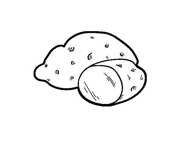 Dibujo De Patata Ecológica Para Colorear Dibujosnet