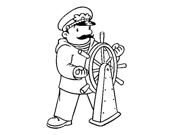 Dibujo de Patrón de barco para Colorear - Dibujos.net