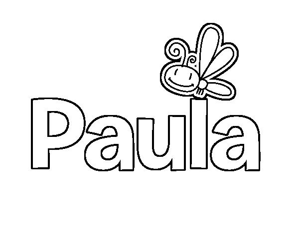 Dibujo de Paula para Colorear - Dibujos.net