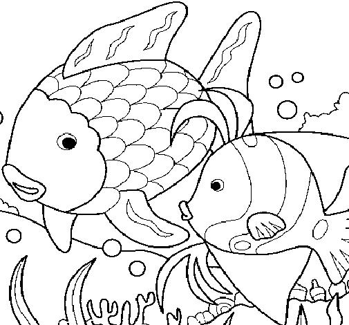 Dibujo de Peces para Colorear - Dibujos.net