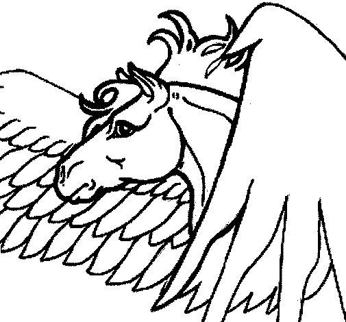Dibujo de Pegaso para Colorear - Dibujos.net