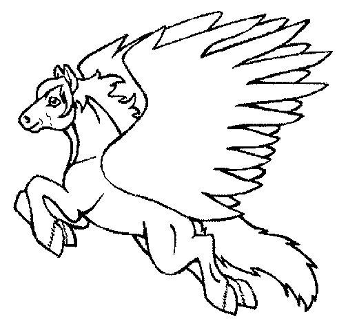 Dibujo de Pegaso volando 1 para Colorear - Dibujos.net