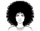 Dibujo De Chica Con Pelo Rizado Para Colorear Dibujosnet