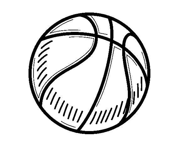Dibujo De Pelota De Baloncesto Para Colorear Dibujosnet