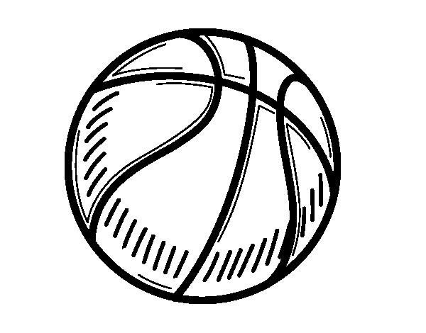Dibujo de Pelota de baloncesto para Colorear - Dibujos.net