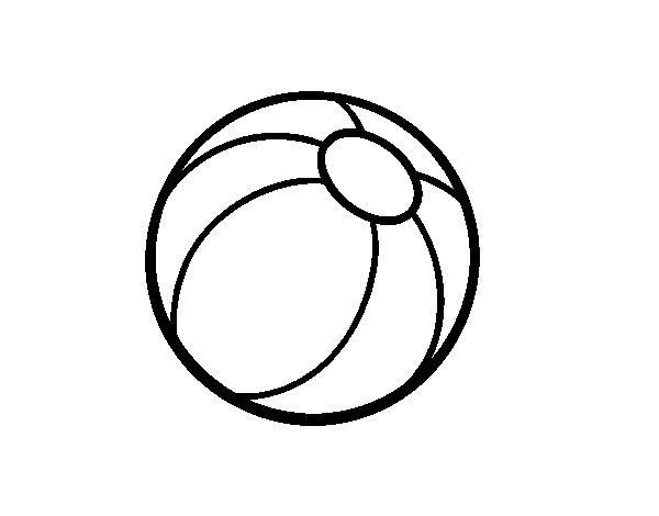 Dibujo De Pelota De Playa Para Colorear Dibujosnet