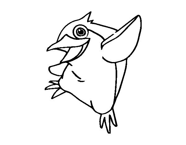 Dibujo de Pequeño pingüino azul para Colorear - Dibujos.net
