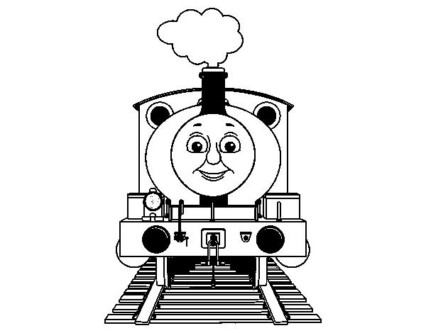 Dibujo de Percy la locomotora para Colorear - Dibujos.net
