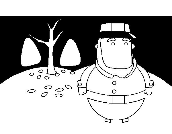 Dibujo de Peregrino para Colorear - Dibujos.net