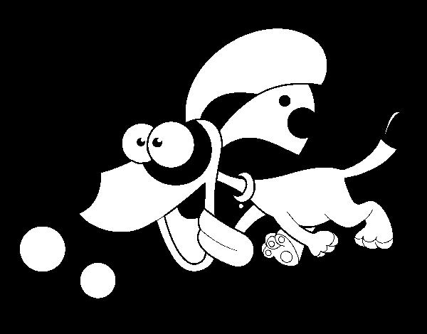 Dibujo De Perrito Corriendo Para Colorear Dibujosnet