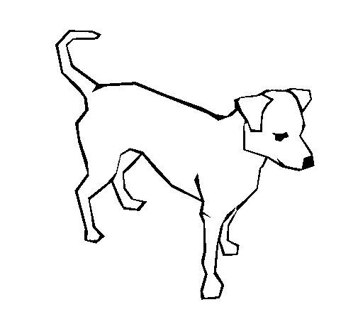 Dibujo de Perro 6a para Colorear - Dibujos.net