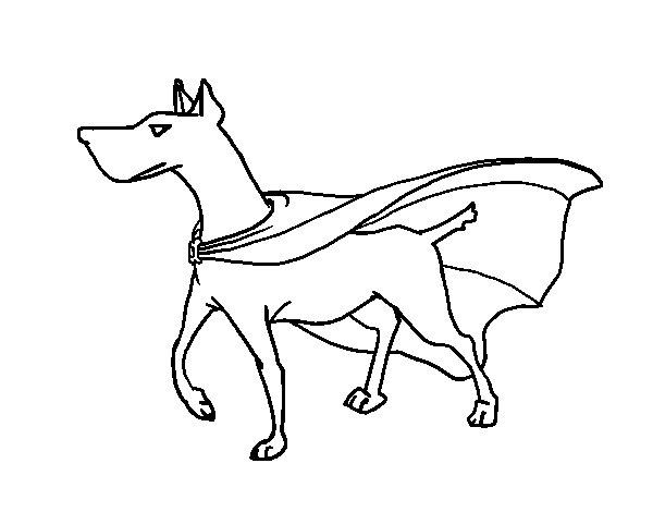 Dibujo de Perro superhéroe para Colorear - Dibujos.net