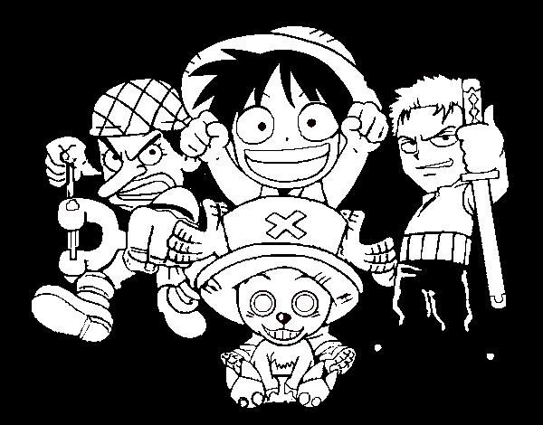 Dibujo De Personajes One Piece Para Colorear Dibujos Net