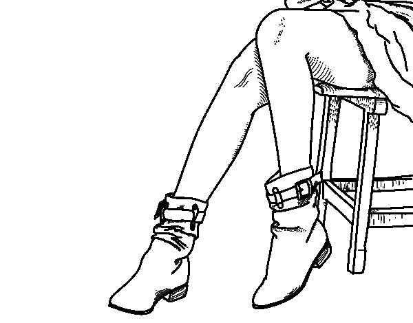 Dibujo de Piernas jovenes para Colorear - Dibujos.net
