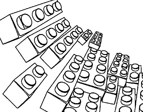 Dibujo de Piezas Lego para Colorear - Dibujos.net
