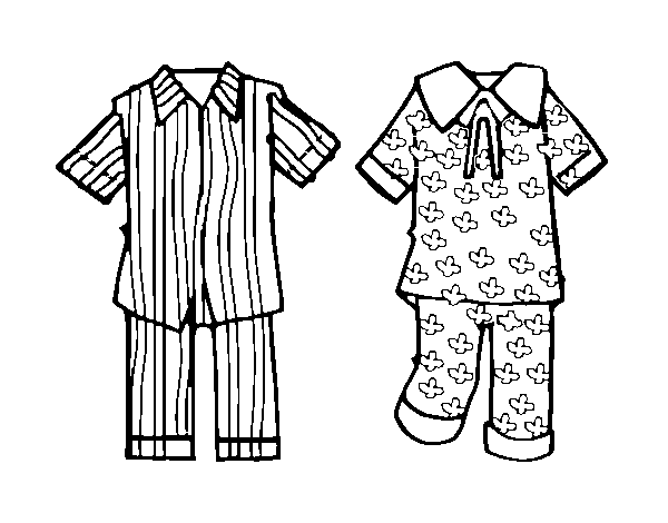 Dibujo De Pijamas Para Colorear Dibujosnet