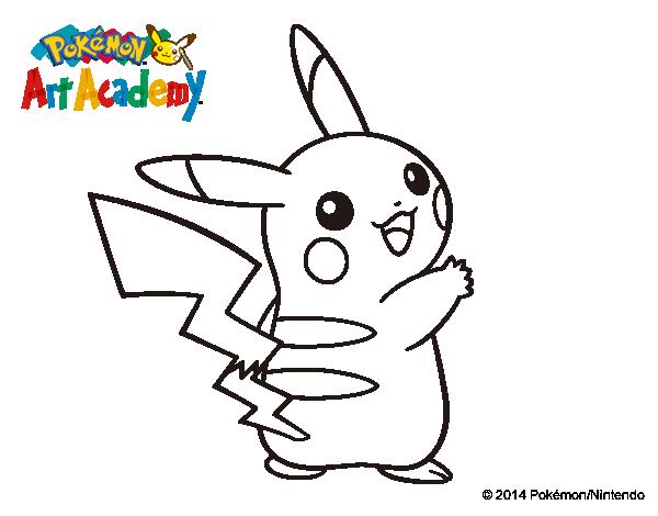 Dibujo de Pikachu de espaldas para Colorear - Dibujos.net