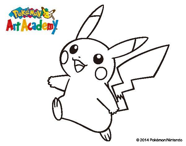 Dibujos De Pokemon De Agua Para Colorear: Dibujo De Pikachu En Pokémon Art Academy Para Colorear