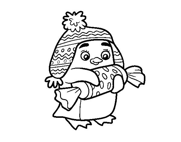 Dibujo de Pingüino con caramelo para Colorear - Dibujos.net