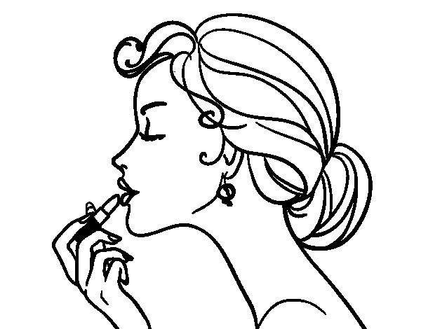 Dibujo de Pintar los labios para Colorear - Dibujos.net