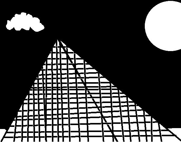 Dibujo de Piramide para Colorear - Dibujos.net