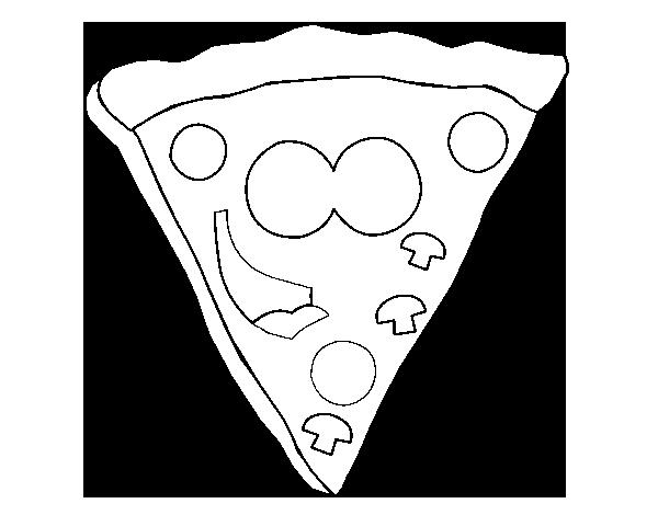 Pinto Dibujos Imagenes De Niños Felices Leyendo Para: Dibujo De Pizza Feliz Para Colorear