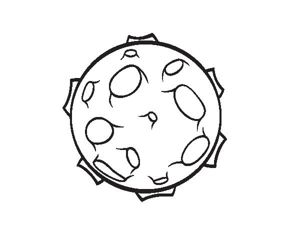 Dibujo de Planeta con cráteres para Colorear - Dibujos.net