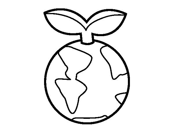 Dibujo de Planeta limpio para Colorear - Dibujos.net