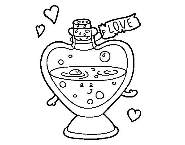 Dibujo de Pócima de amor para Colorear - Dibujos.net