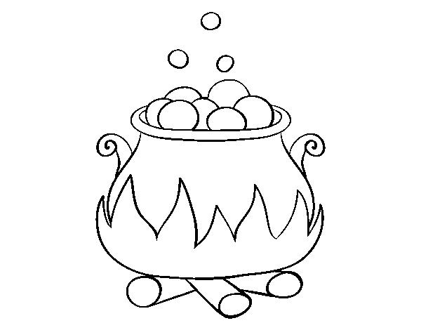 Dibujo de Pocima embrujada para Colorear - Dibujos.net