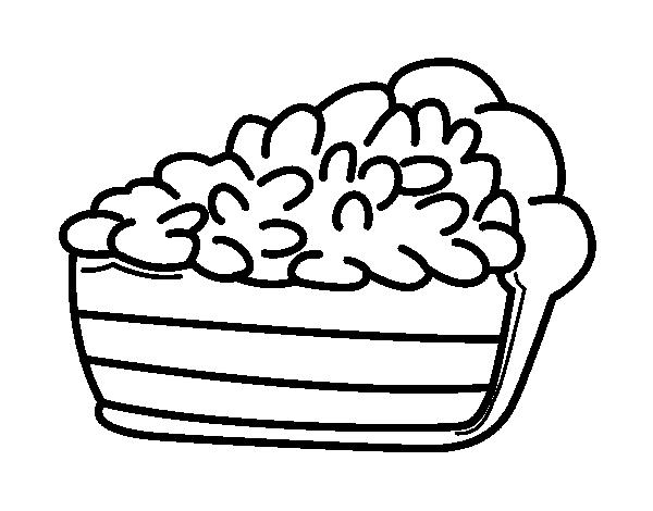 Dibujo de Porción de tarta para Colorear   Dibujos.net