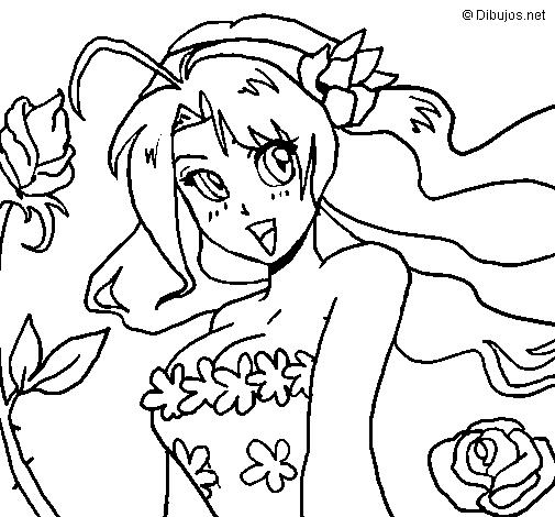 Dibujo de Primavera II para Colorear - Dibujos.net