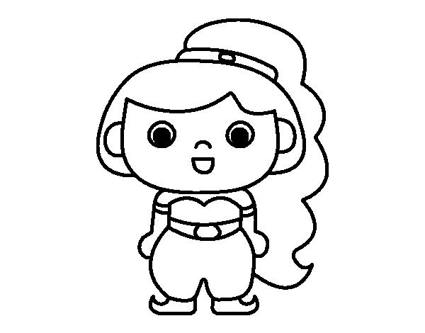 Dibujo de Princesa árabe para Colorear - Dibujos.net