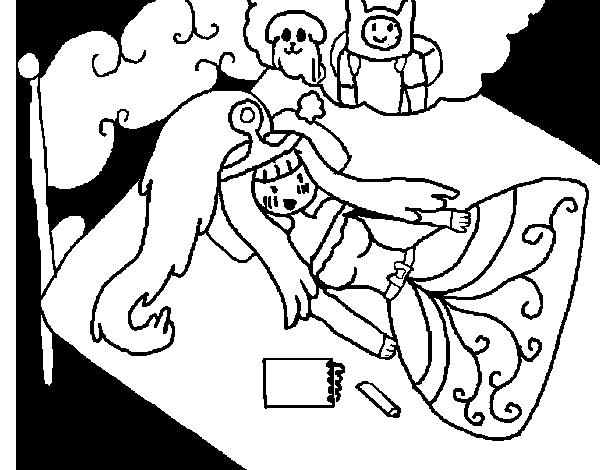 Dibujo de Princesa chicle pensando para Colorear - Dibujos.net
