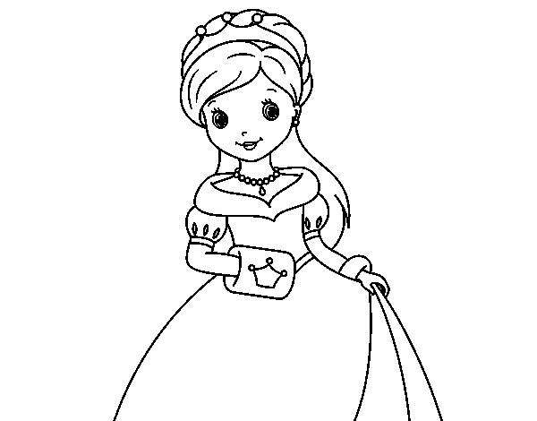 Dibujo De Princesa De Gala Para Colorear Dibujos Net