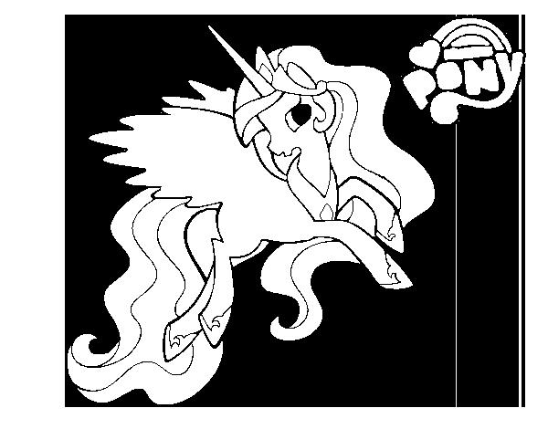Dibujo de Princess Celestia para Colorear - Dibujos.net