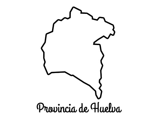 Dibujo de Provincia de Huelva para Colorear   Dibujos.net