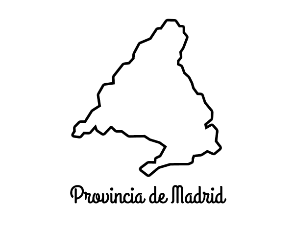 Dibujo de Provincia de Madrid para Colorear   Dibujos.net