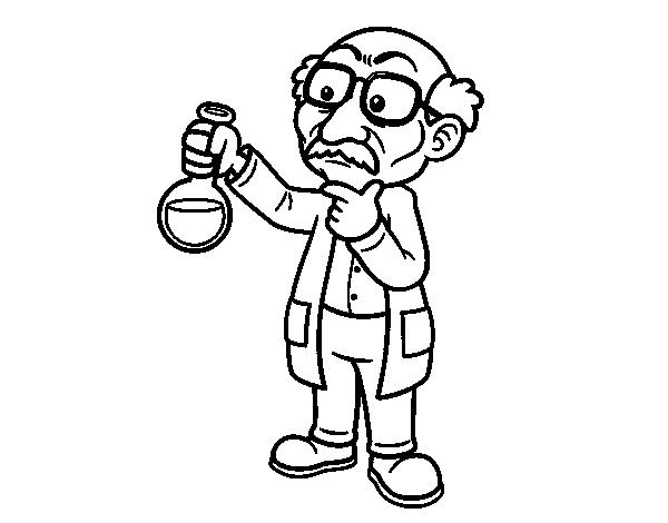 Dibujos Para Pintar Quimica Dibujo De Clase De Química Para Colorear